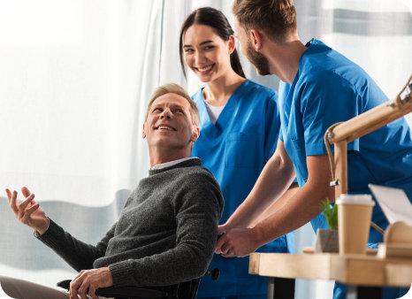 nurses with patient